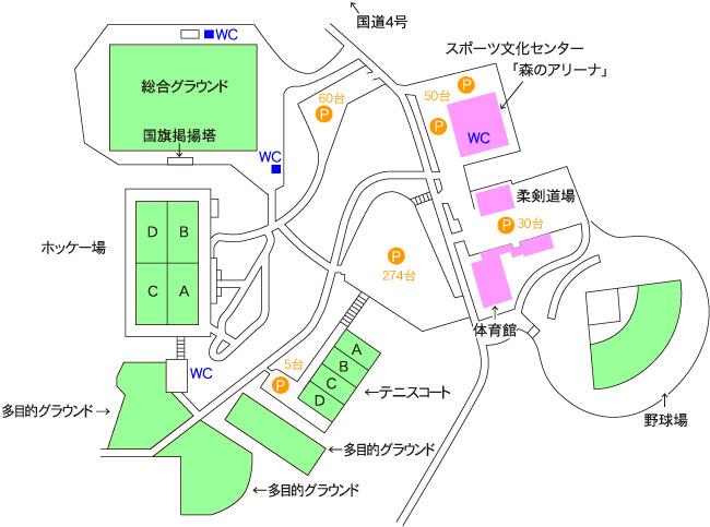 運動公園案内図